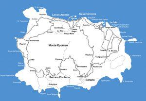 Isola d'Ischia - Cartina